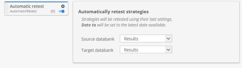 Automatic retest custom project task