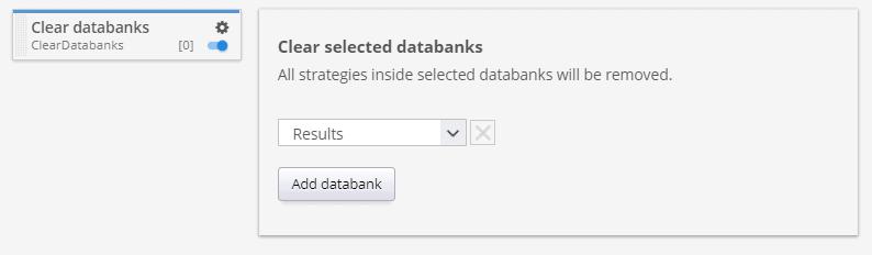 Clear databanks custom project task
