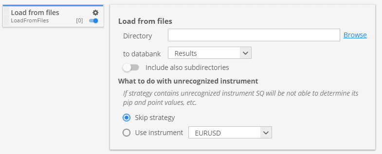 Load from files custom project task