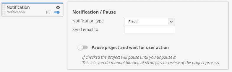 Notification custom project task